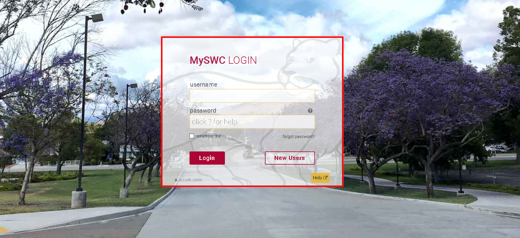 My SWC Web Advisor Login